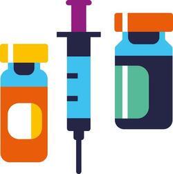 deux seringues plus un vaccin