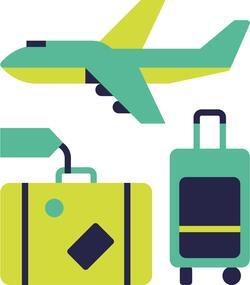 Avion avec bagages